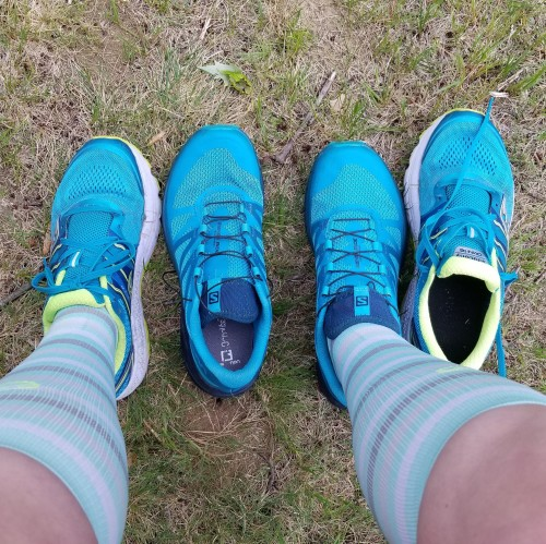 salomon sense rides and saucony omnis