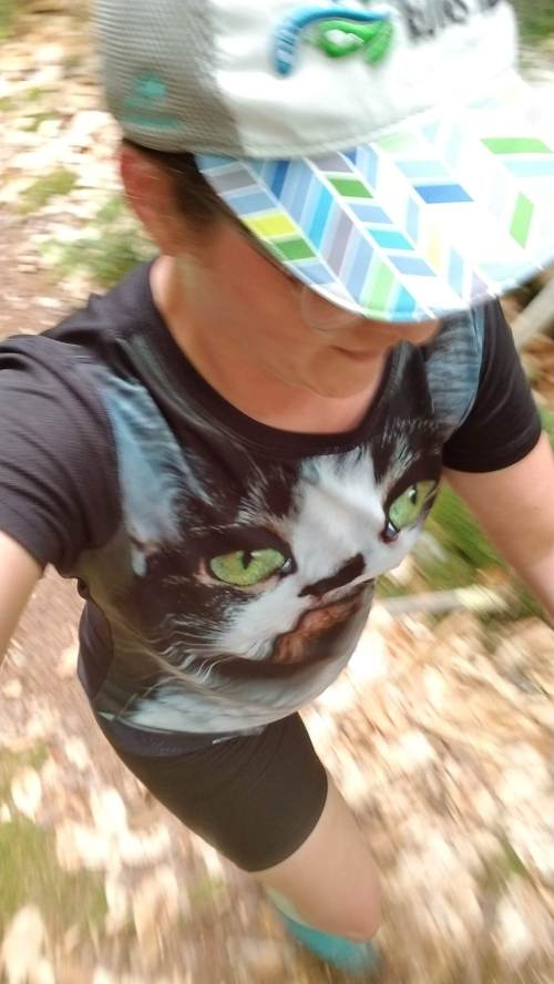 selfie trail running in sense rides