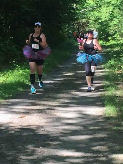 runners in tutus