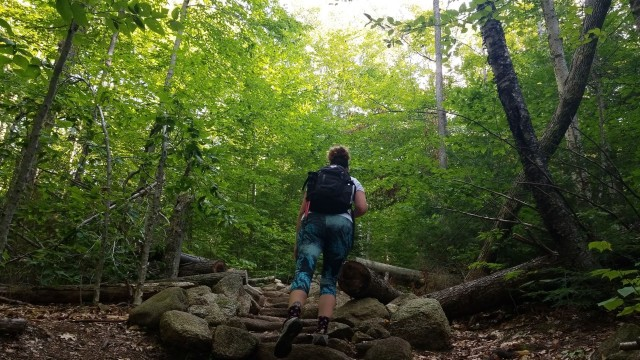 hiking welch dickey loop without trekking poles