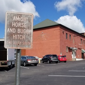 amish horse and buggy hitch sign