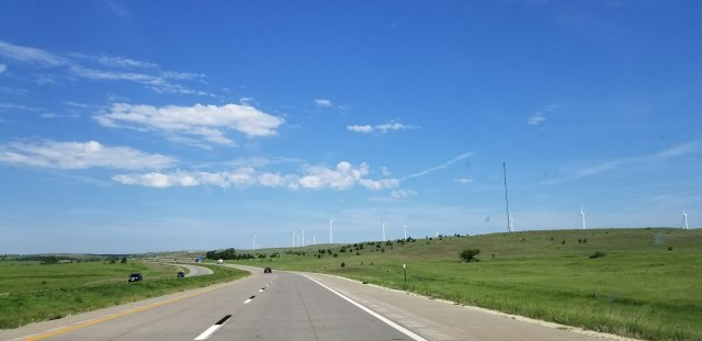 wind farm along I70 in KS